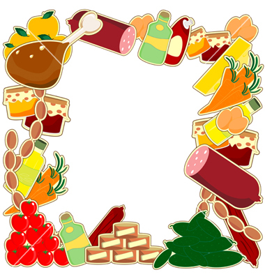 Food borders clipart image black and white download Free Food Border Cliparts, Download Free Clip Art, Free Clip Art on ... image black and white download