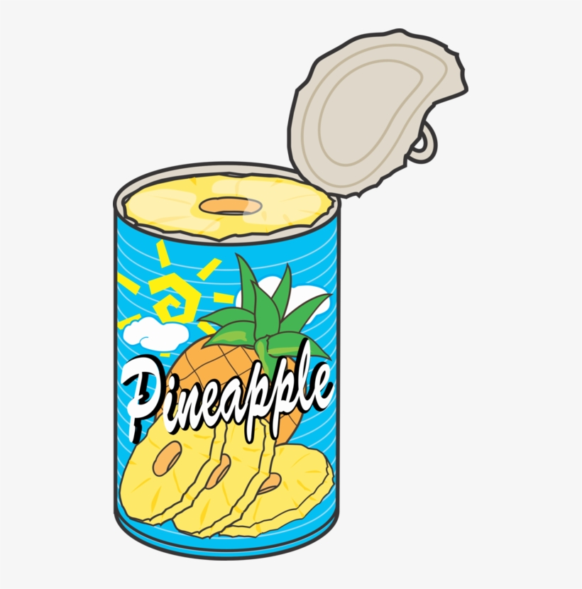 Food can clipart image transparent library Tin Can Pineapple Food Fizzy Drinks - Pineapple Can Clipart - Free ... image transparent library