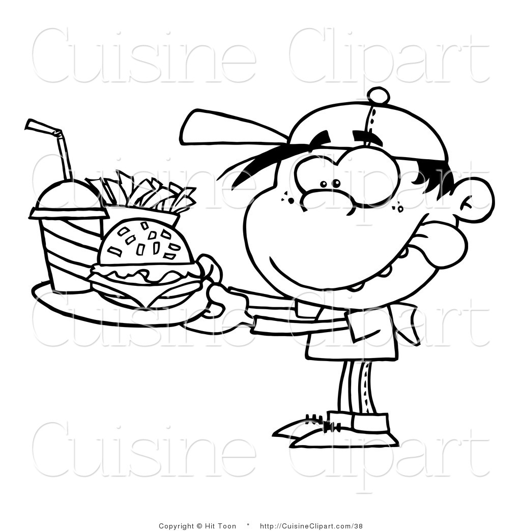 Food clipart blackline jpg free download Unhealthy food clipart black and white - ClipartFest jpg free download