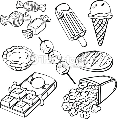 Food clipart blackline jpg library library Junk food clipart black and white - ClipartFox jpg library library