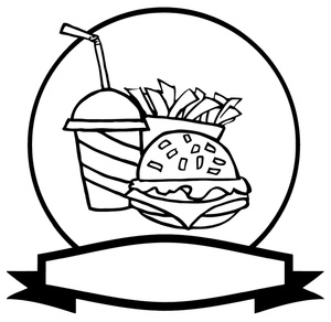 Food clipart blackline clipart free stock Food Clipart Black And White | Clipart Panda - Free Clipart Images clipart free stock