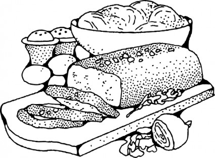 Food clipart blackline clip free library Food clip art black and white - ClipartFest clip free library