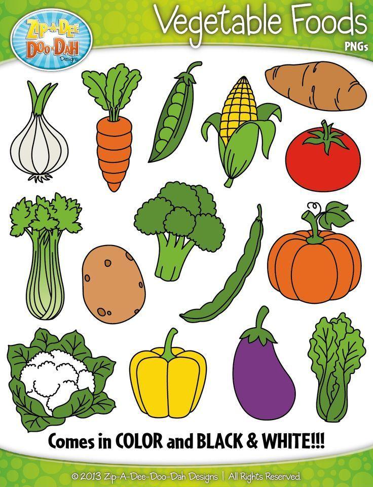 Food clipart for teachers jpg transparent stock Vegetable Foods Clipart {Zip-A-Dee-Doo-Dah Designs} | My Teachers ... jpg transparent stock