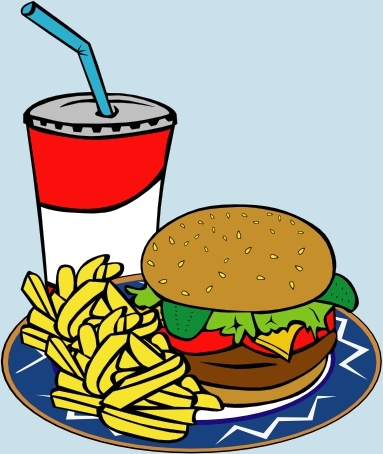 Food clipart jpg format svg Fries Burger Soda Fast Food clip art Free vector in Open office ... svg