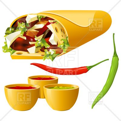 Food clipart jpg format image free library Mexican Fiesta Food Clip Art | clipart catalog food and beverages ... image free library