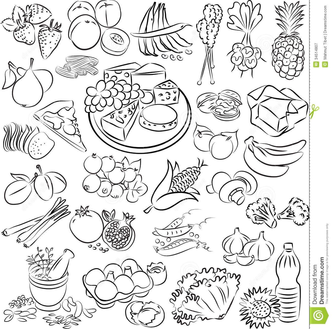 Food clipart jpg format clip art free stock Food clipart black and white jpg format - ClipartFest clip art free stock