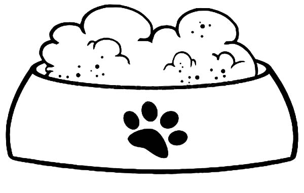 Food clipart to color clipart free library Dog bowl bowl clipart dog food pencil and in color bowl - WikiClipArt clipart free library
