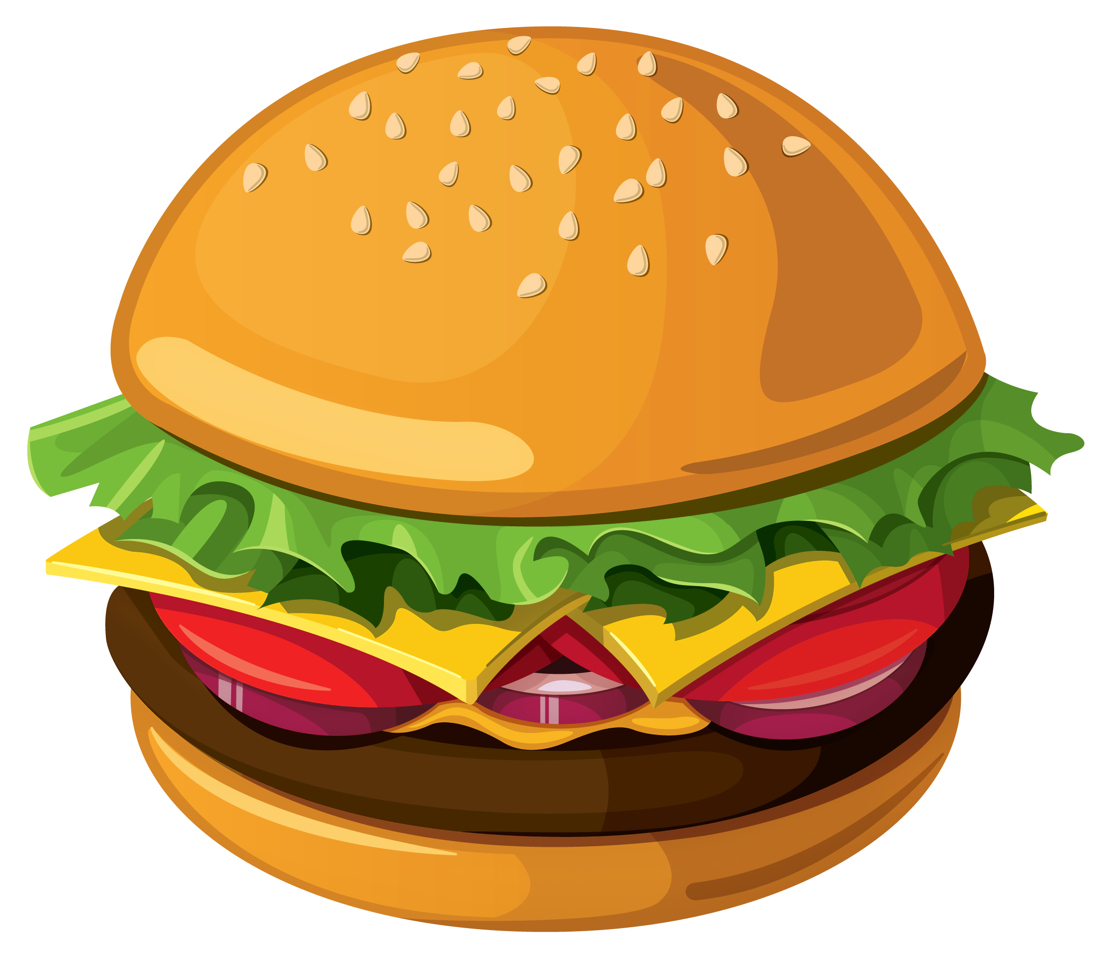 Food clipart transparent png image stock Hamburger PNG Vector Picture image stock