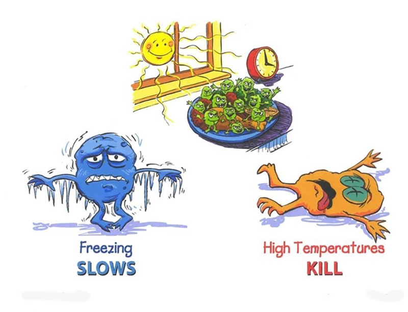 What is temperature danger. Food cooking temperatures clipart