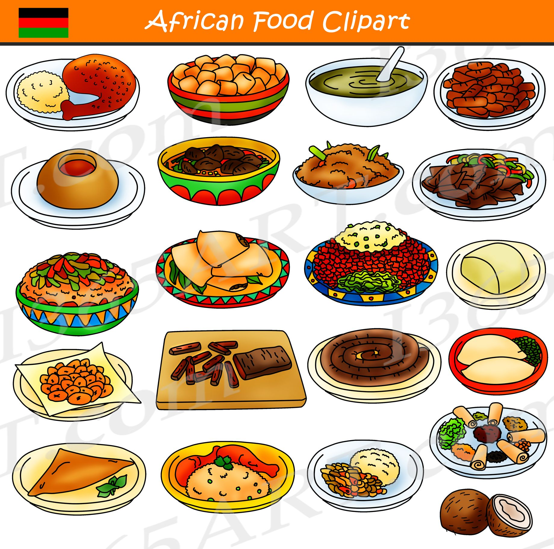 African commercial download school. Food dish clipart