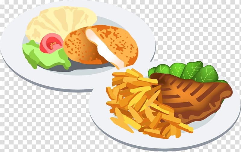 Illustration of dishes fast. Food dish clipart