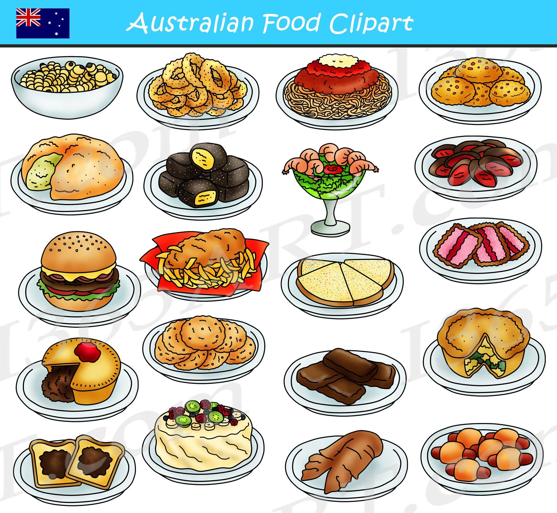 Food dish clipart. Australian graphics download school