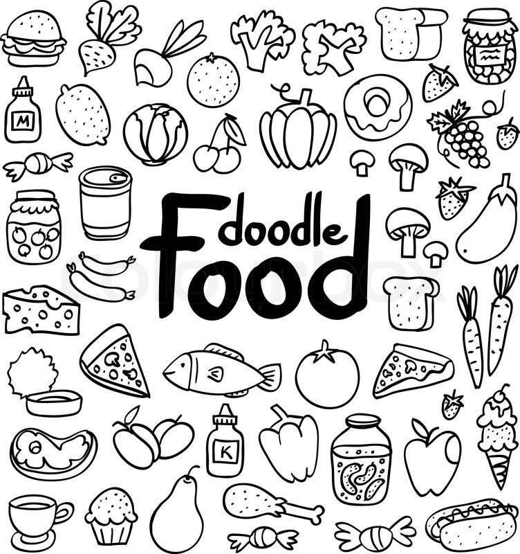 Food doodle clipart image black and white Download doodle food clipart Food image black and white