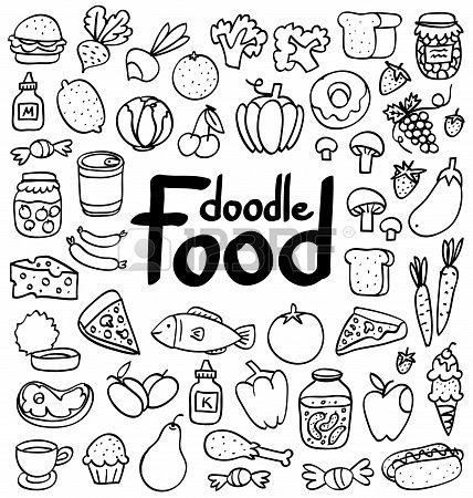 Food doodle clipart png freeuse food, doodle | Work ideas | Easy doodle art, Food doodles, Doodles png freeuse