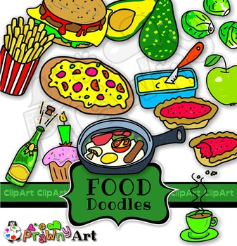 Food doodle clipart png black and white stock Food and Drink Doodle Clip Art Mega Pack png black and white stock