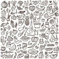 Food doodle clipart svg library stock Natural Food Doodles Set stock vectors - Clipart.me svg library stock