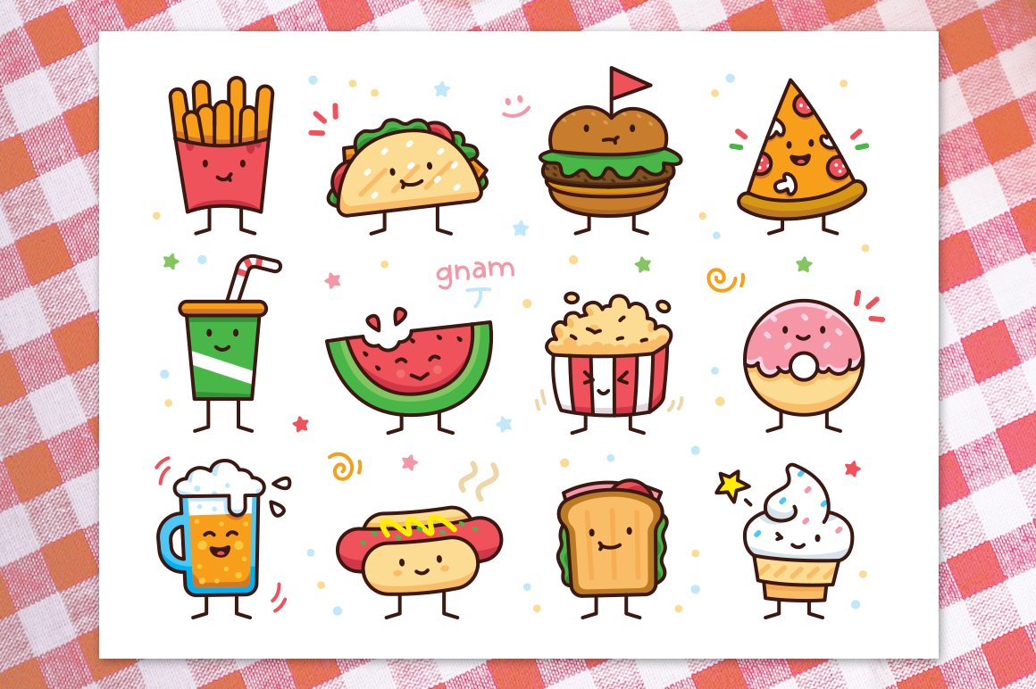 Food doodle clipart royalty free Food Doodle Toolkit royalty free