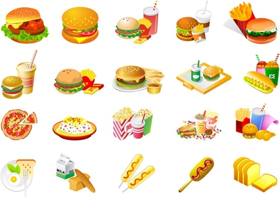 Food for all clipart banner transparent download Fries Burger Soda Fast Food clip art Free vector in Open office ... banner transparent download