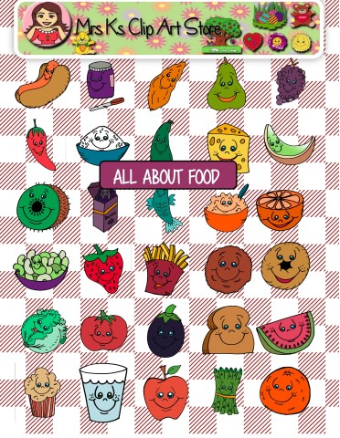 Food for all clipart image royalty free stock All about food clip art | Mrs Ks Clip Art and more image royalty free stock