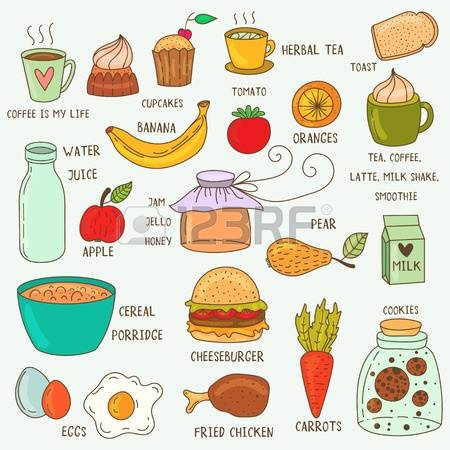 Food for breakfast clipart picture transparent 1,050 School Breakfast Stock Vector Illustration And Royalty Free ... picture transparent