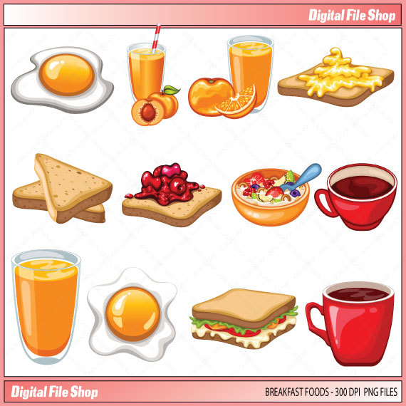 Food for breakfast clipart clipart library download Food for breakfast clipart - ClipartFest clipart library download
