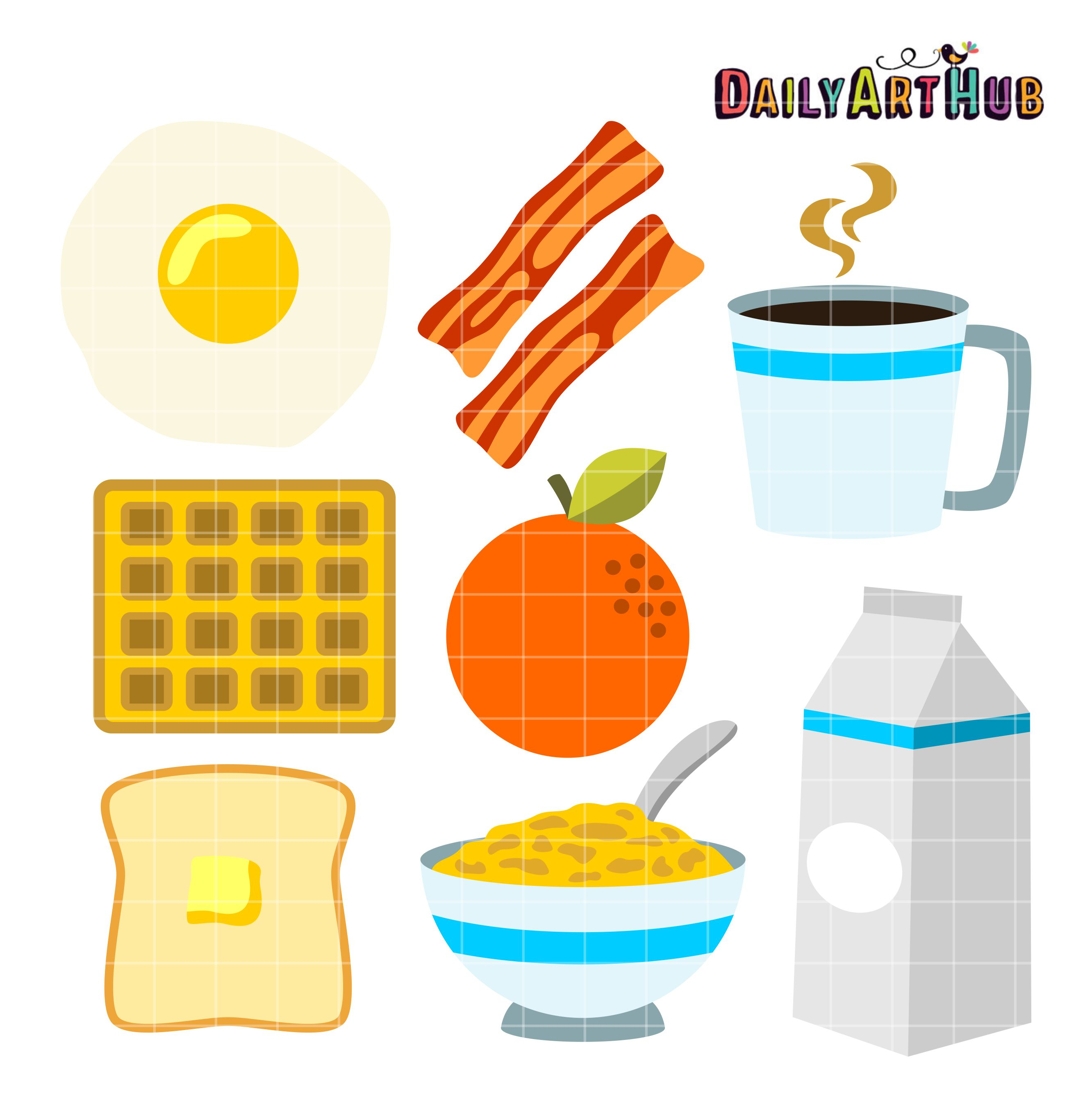 Food for breakfast clipart jpg transparent library Clipart breakfast food - ClipartFox jpg transparent library