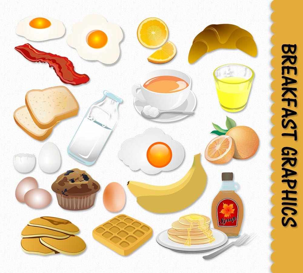 Food for breakfast clipart png Breakfast food clip art - ClipartFest png
