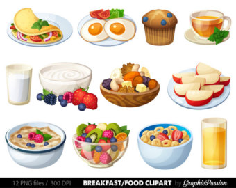 Food for breakfast clipart clip royalty free stock Breakfast clipart | Etsy clip royalty free stock