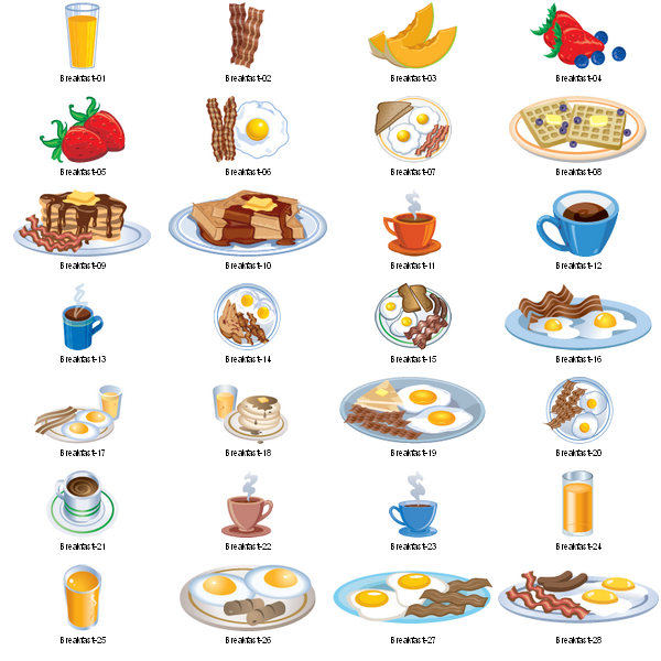 Food for breakfast clipart freeuse stock Free breakfast food clipart - ClipartFest freeuse stock