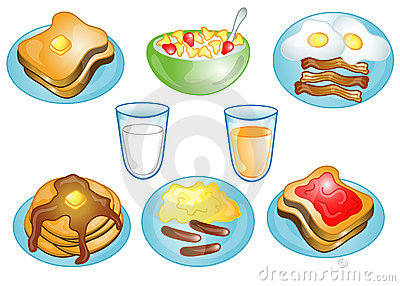 Food for breakfast clipart svg stock Breakfast food clip art - ClipartFest svg stock