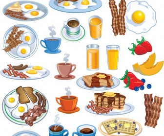 Food for breakfast clipart clip free library Free breakfast food clipart - ClipartFest clip free library