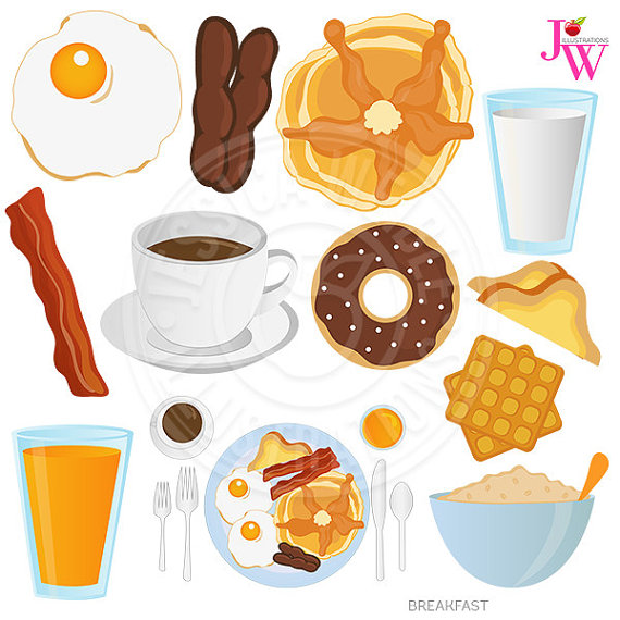 Food for breakfast clipart freeuse stock Clipart breakfast food - ClipartFox freeuse stock