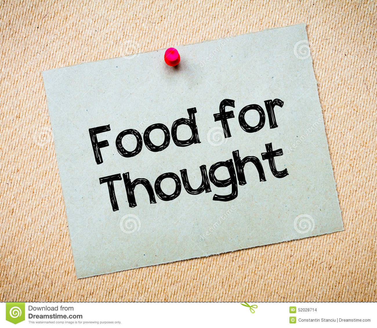 Food for thought clipart clipart download Food For Thought Stock Photo - Image: 52028714 clipart download
