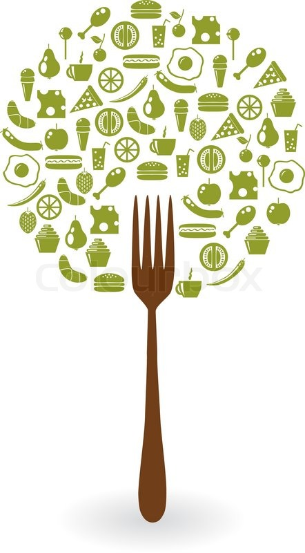 Food from trees clipart svg freeuse library Foods tree | Stock Vector | Colourbox svg freeuse library