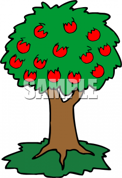 Food from trees clipart image download Food Clip Art Picture of Cartoon Apple Tree - foodclipart.com image download