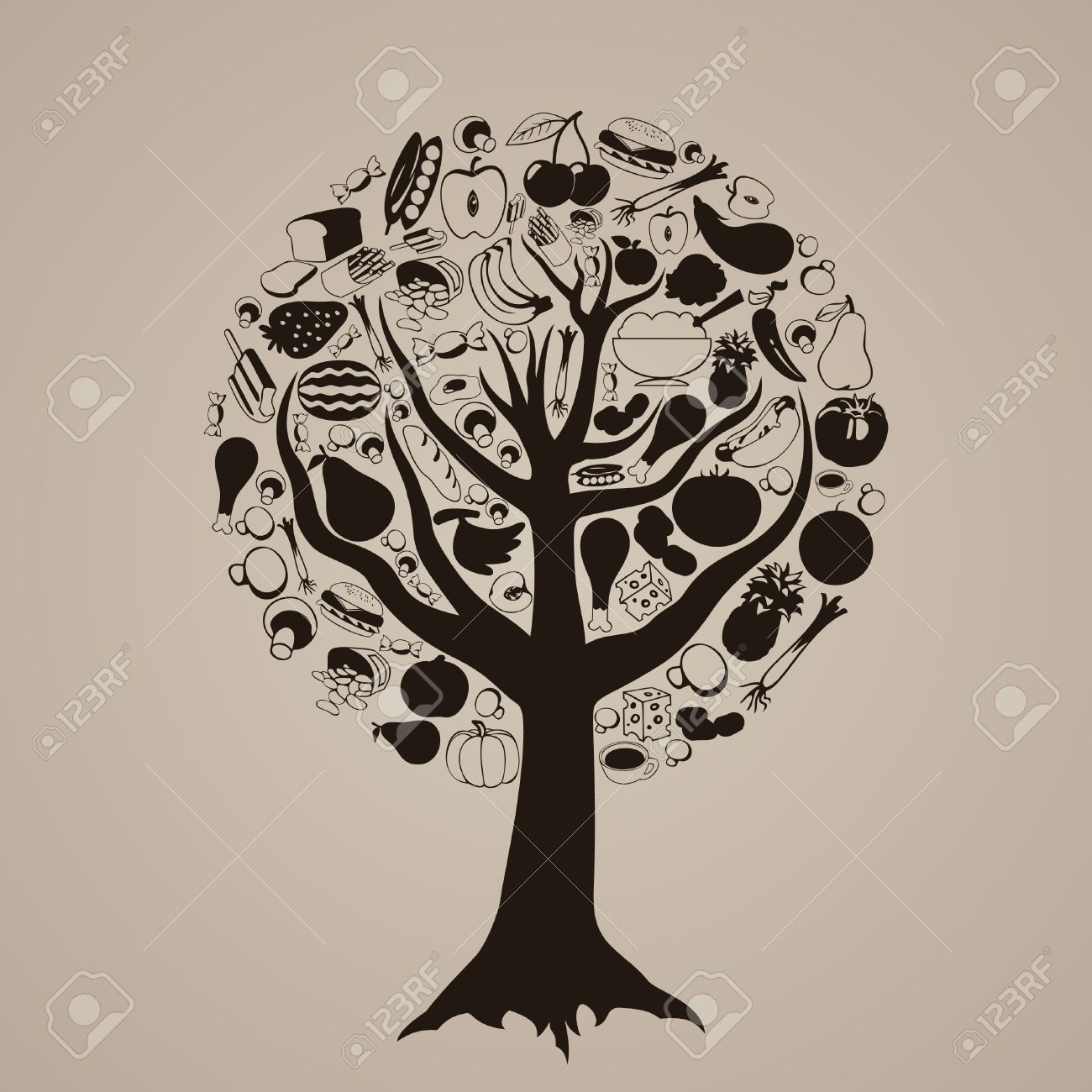 Food from trees clipart clipart transparent download Food from trees clipart - ClipartFest clipart transparent download