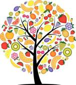 Food from trees clipart png library library Clipart of Energy strawberry tree for your design k5319065 ... png library library