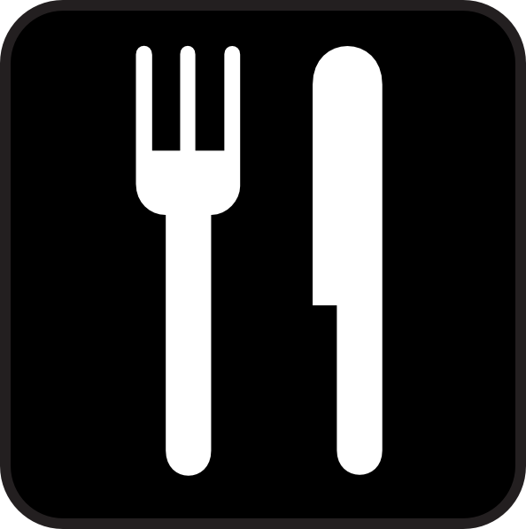 Food icon clipart image black and white stock Black Food Icon Clip Art at Clker.com - vector clip art online ... image black and white stock