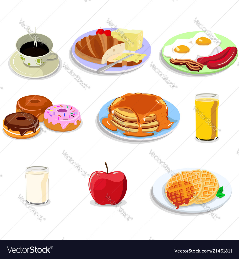 Breakfast . Food icons clipart