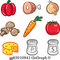 Food ingredient clipart image black and white stock Food Ingredients Clip Art - Royalty Free - GoGraph image black and white stock
