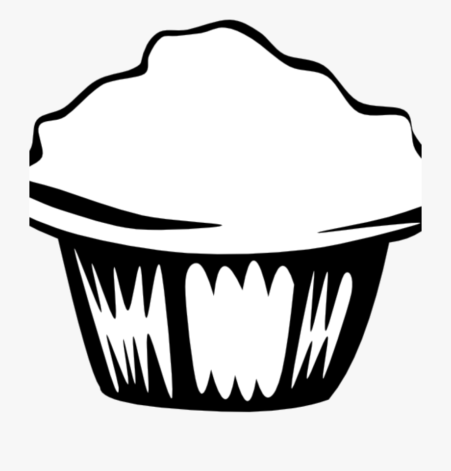 Food outline clipart image library library Cupcake Clipart Outline Cupcake Outline Clipart Black - Black And ... image library library