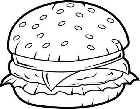 Food outline clipart clipart transparent download Free Hamburger Outline Cliparts, Download Free Clip Art, Free Clip ... clipart transparent download