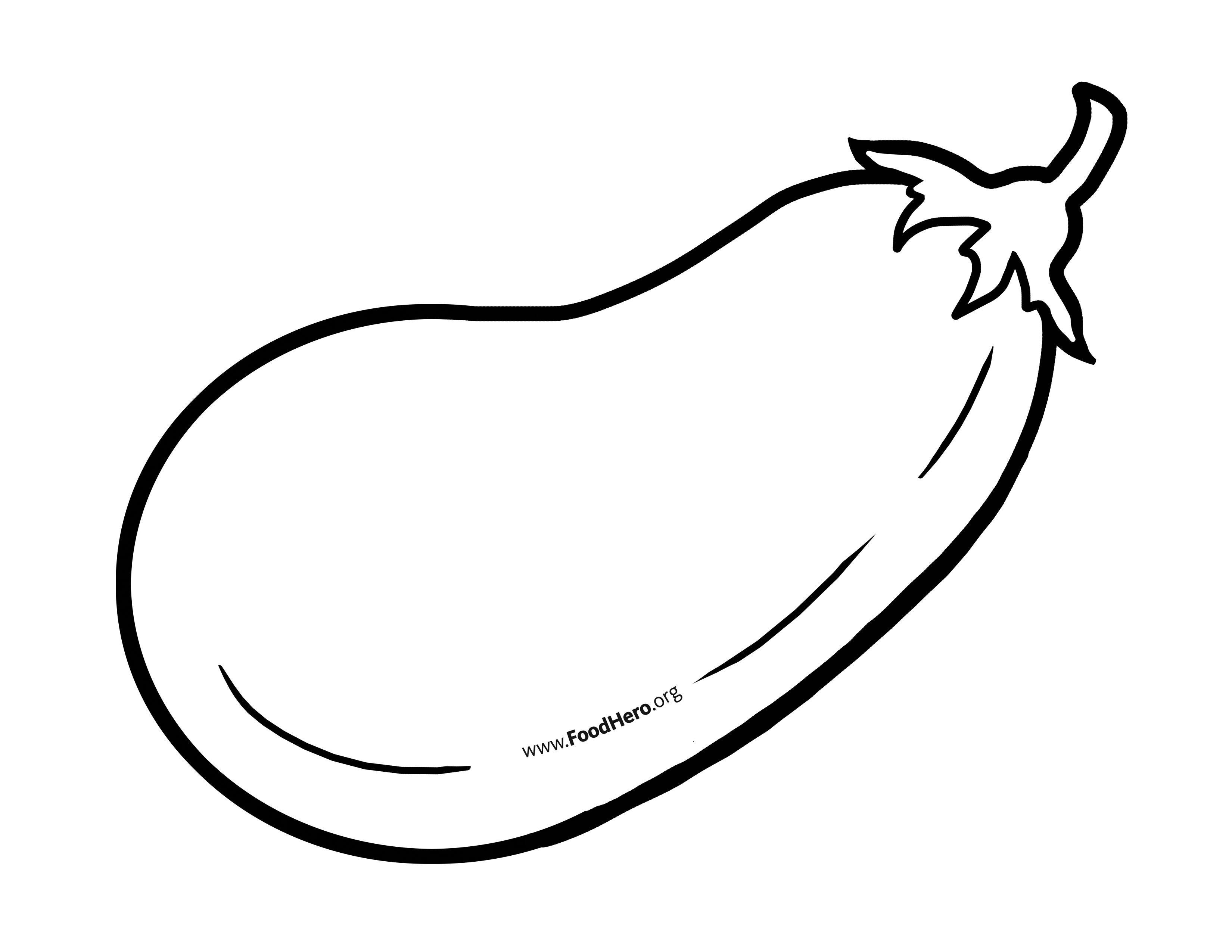 Food outline clipart banner download Eggplant Outline   Food Hero #blackline #illustration #eggplant ... banner download