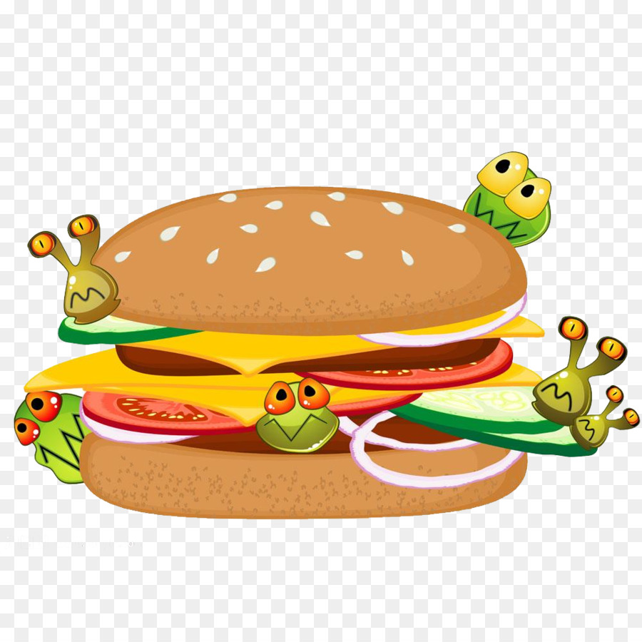 Food poisoning clipart picture freeuse Hamburger Cartoon png download - 1000*1000 - Free Transparent Food ... picture freeuse