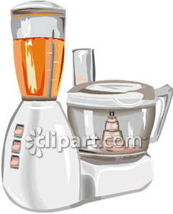 Food processor clipart vector black and white stock A Blender and Food Processor - Royalty Free Clipart Picture vector black and white stock
