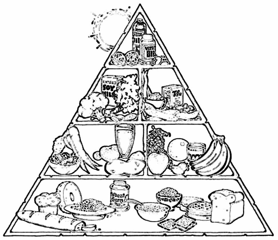 Food pyramid clipart black and white clip art library stock Food pyramid clipart black and white 10 » Clipart Station clip art library stock