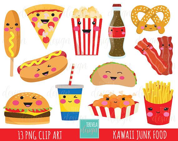 junk fast kawaii. Food sale clipart