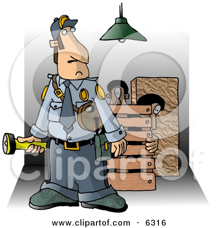 Food security clipart clip art black and white library Clipart of a Female Security Guard in a Uniform - Royalty Free ... clip art black and white library