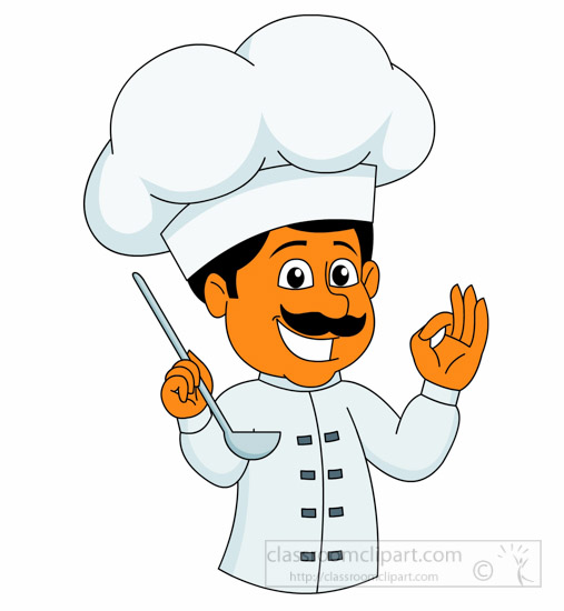 Food tasting clipart jpg royalty free download Chef Cooking And Tasting Food With Happy Face Clipart » Clipart Station jpg royalty free download