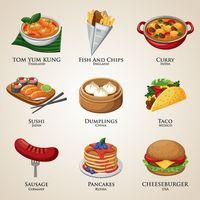 Food world clipart